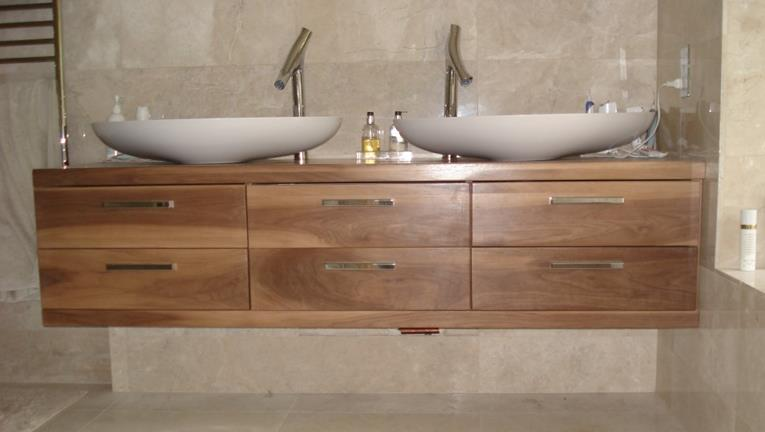 His and Hers Built-in Bathroom Sink Unit